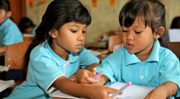 Burmese migrant students