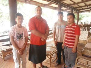 Vocation Discerners with Maselino, a Samoan Novice