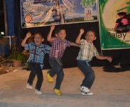 Pope Francis Drop-in Center blessing- triplets dance