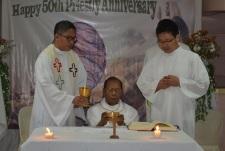 John Pereira celebrates Mass