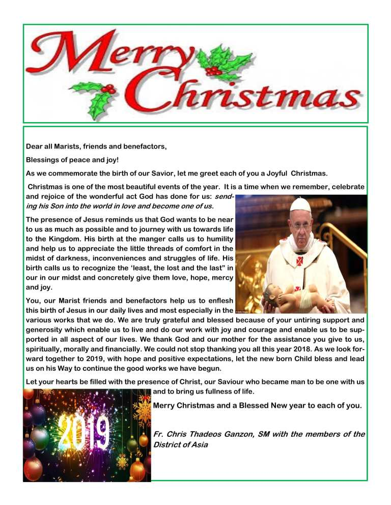 Christmas message to All-1